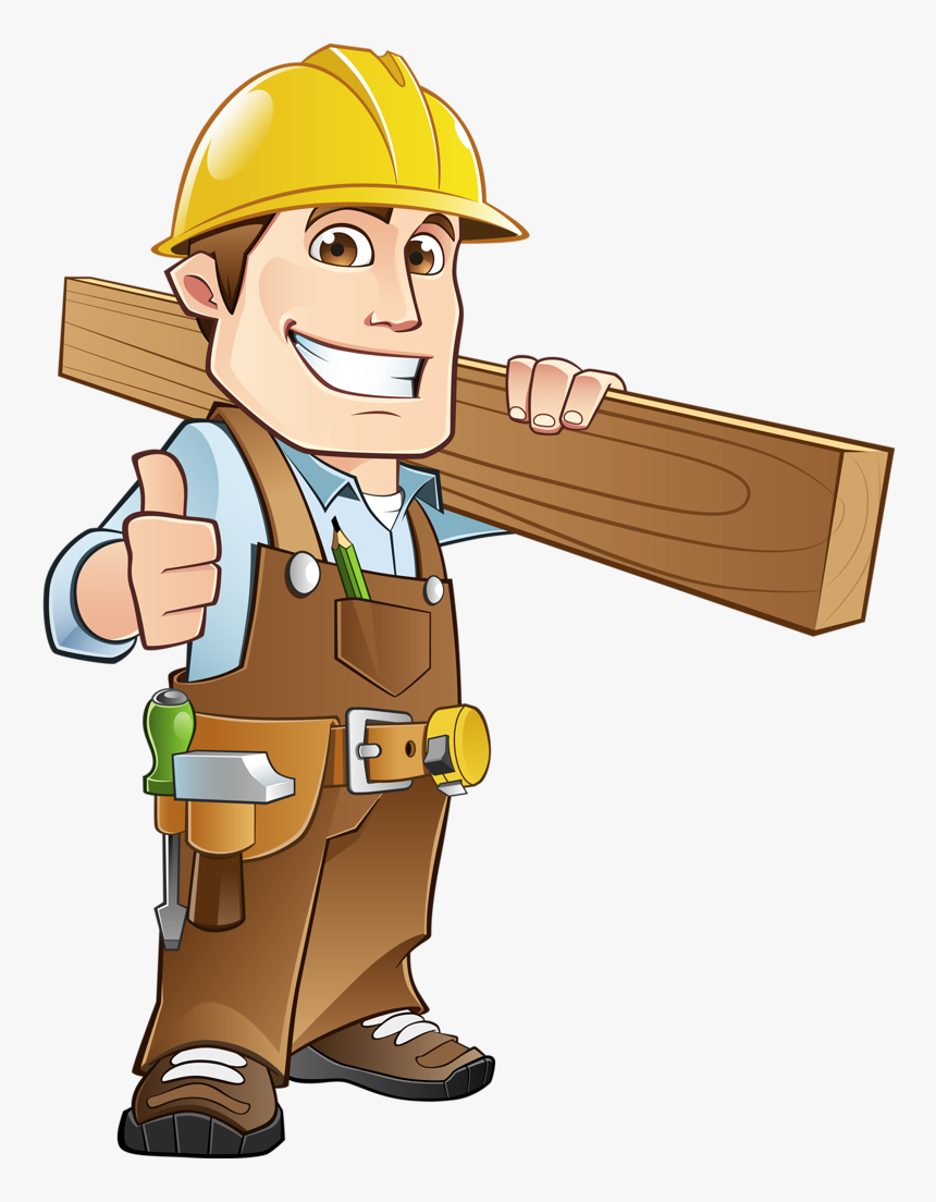 Transparent Clipboard Clipart - Cartoon Clipart Construction Worker, HD Png Download, Free Download
