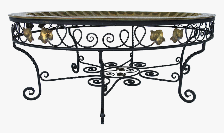 Viyet Wrought Iron Vintage Cocktail Table - Coffee Table, HD Png Download, Free Download