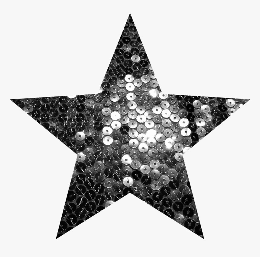 #star #silver #sequins #glittersticker - Gold Star Transparent Background, HD Png Download, Free Download