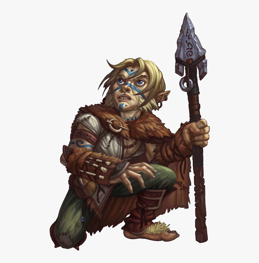 Male Halfling Ghostwise Druid Hd Png Download Kindpng