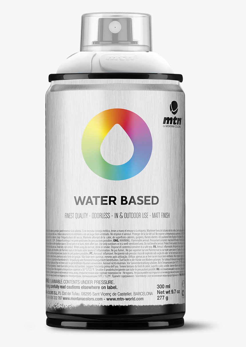 Glossy Png -mtn Water Based 300 Spray Paint - Water Based Spray Paint Canada, Transparent Png, Free Download