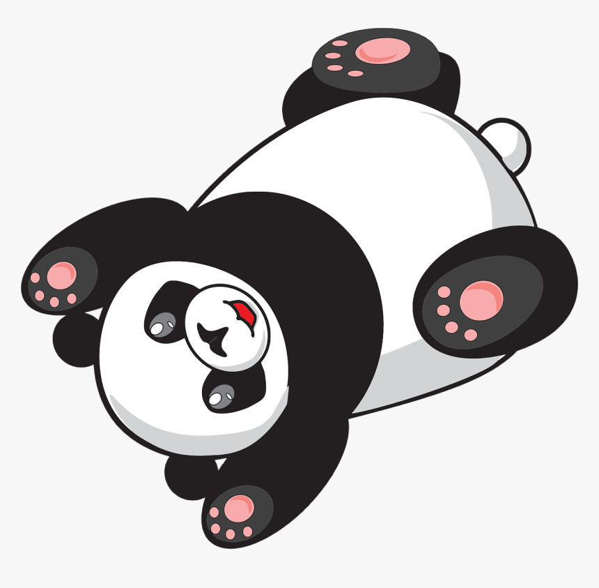 Rolling,fictional Character,cartoon - Gif Panda Png, Transparent Png, Free Download
