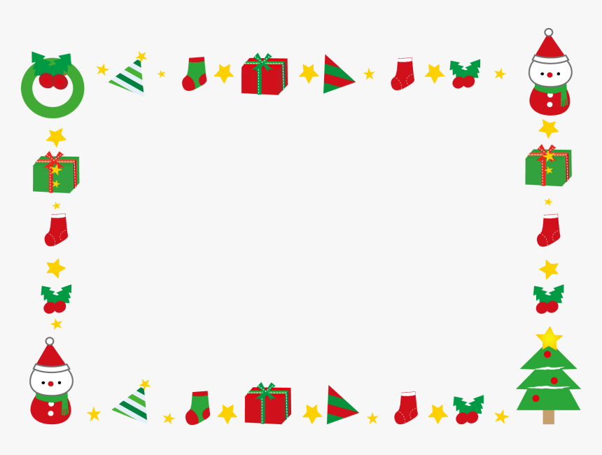 Christmas Creativity Cartoon - Transparent Christmas Border Png, Png Download, Free Download