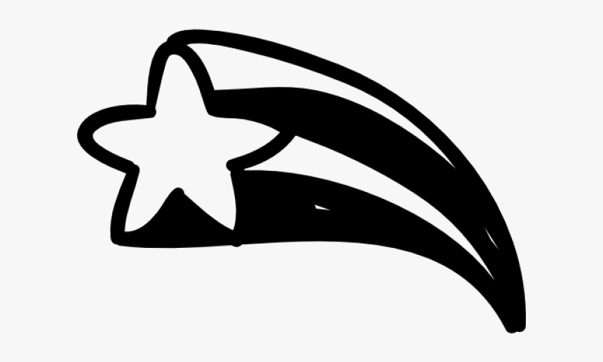 Falling Stars Clipart Sky Drawing - Hand Drawn Shooting Star, HD Png Download, Free Download