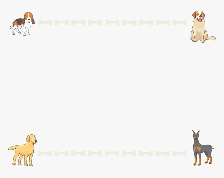Dogs And Bones Frame Dog Frame Png Cartoon Transparent Png Kindpng