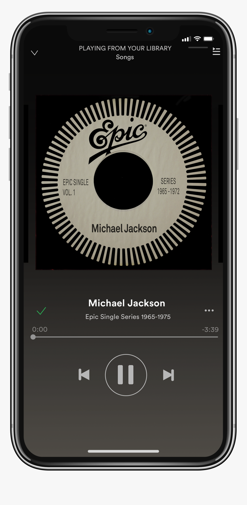 Epic Phone - Spotify Music Player Template, HD Png Download, Free Download