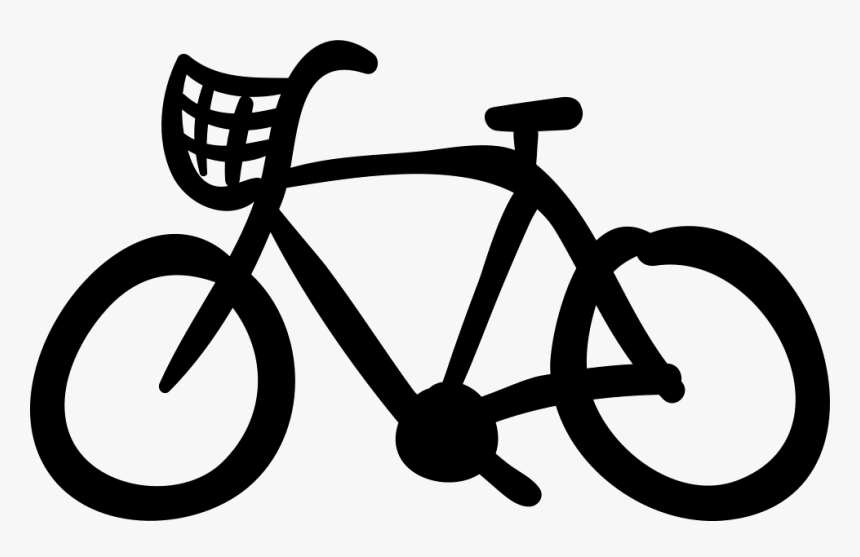 Bike Hand Drawn Ecological Transport - Pedestrian Yield To Bikes, HD Png Download, Free Download