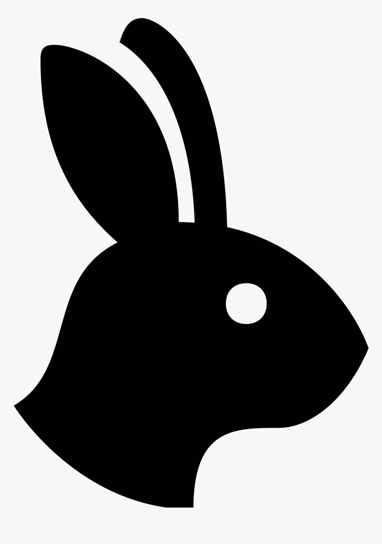 Domestic Rabbit European Rabbit Computer Icons - Rabbit Head Silhouette Png, Transparent Png, Free Download
