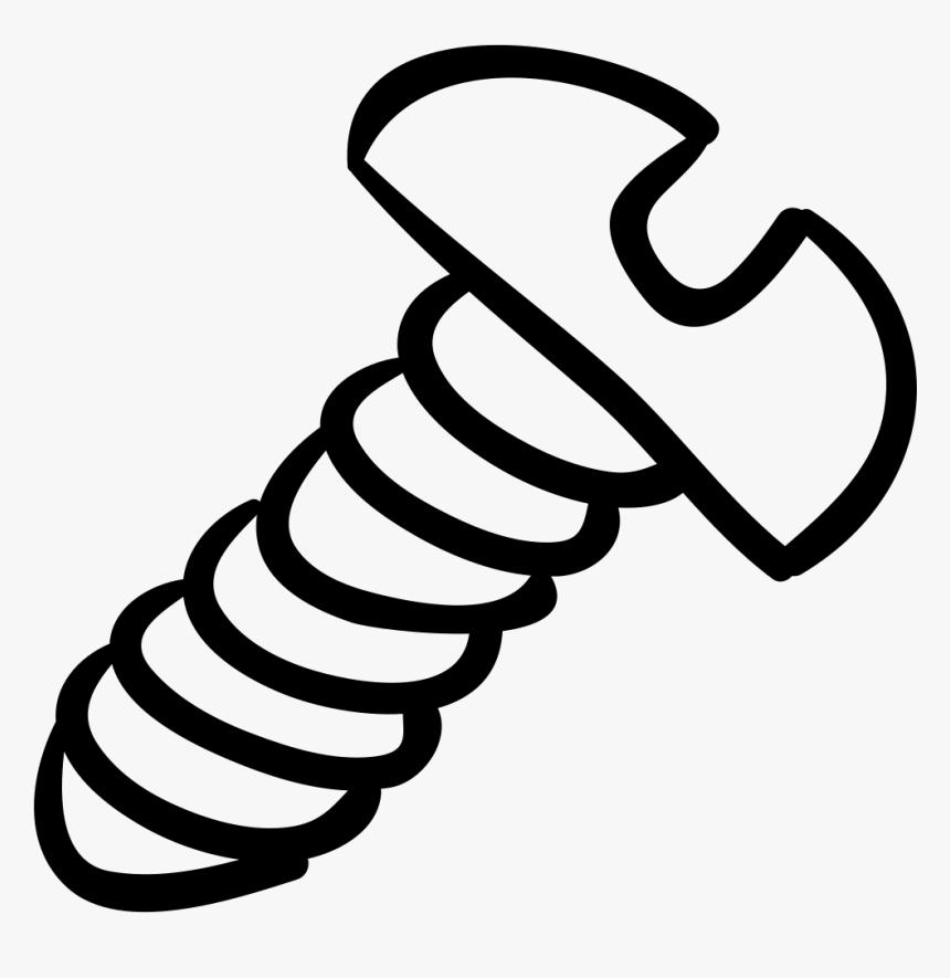Swish Vector Hand Drawn - Tornillo Para Colorear Png, Transparent Png, Free Download