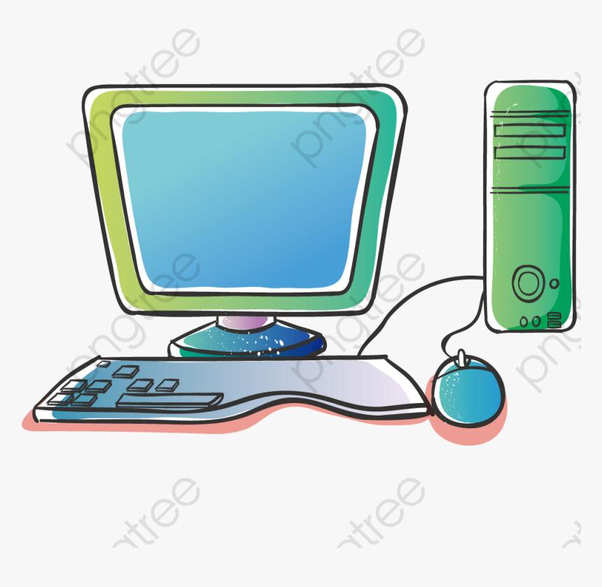 Transparent Computer Parts Clipart Computadora Animada Hd Png Download Kindpng