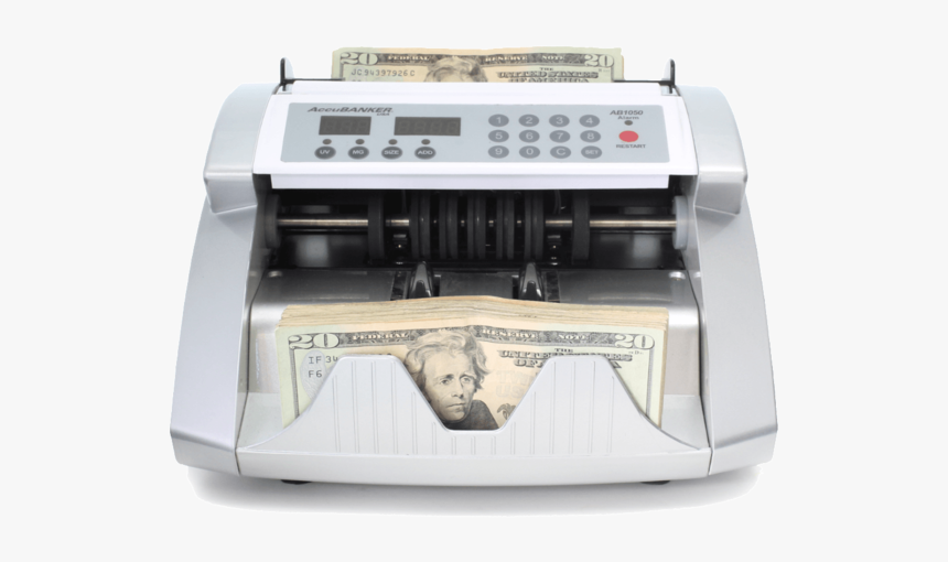 Accubanker Ab1050 Basic Bill Counter With Uv Counterfeit - Accubanker Silver 1050, HD Png Download, Free Download