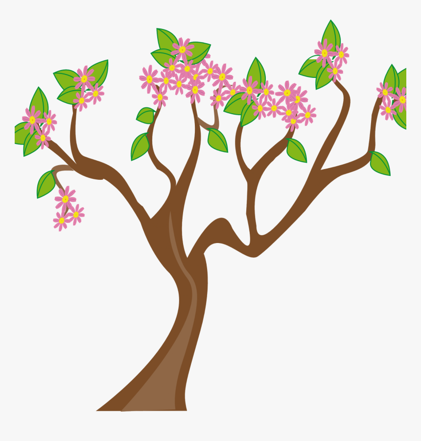 May Flowers Clip Art - Spring Tree Clipart, HD Png Download, Free Download