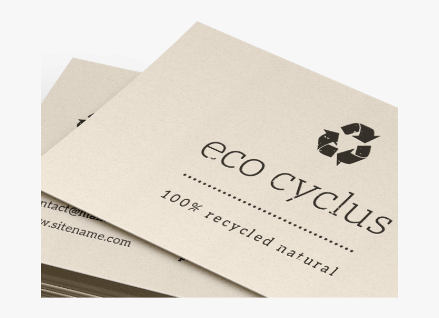 Transparent Blank Business Card Png - Recycle Business Card Stock, Png Download, Free Download
