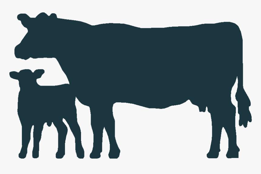 Cow Clip Art Calf - Cow And Calf Svg, HD Png Download, Free Download