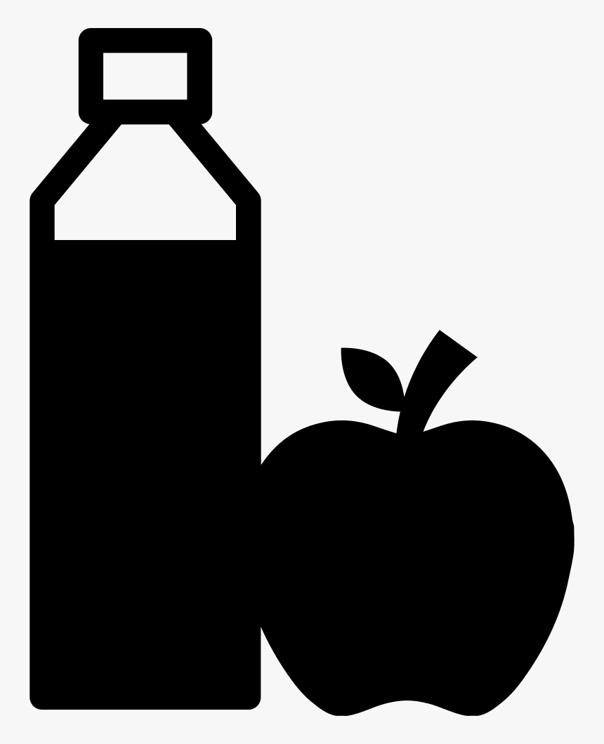 Juice Bottle And Apple - Juice Bottle Icon Png, Transparent Png, Free Download