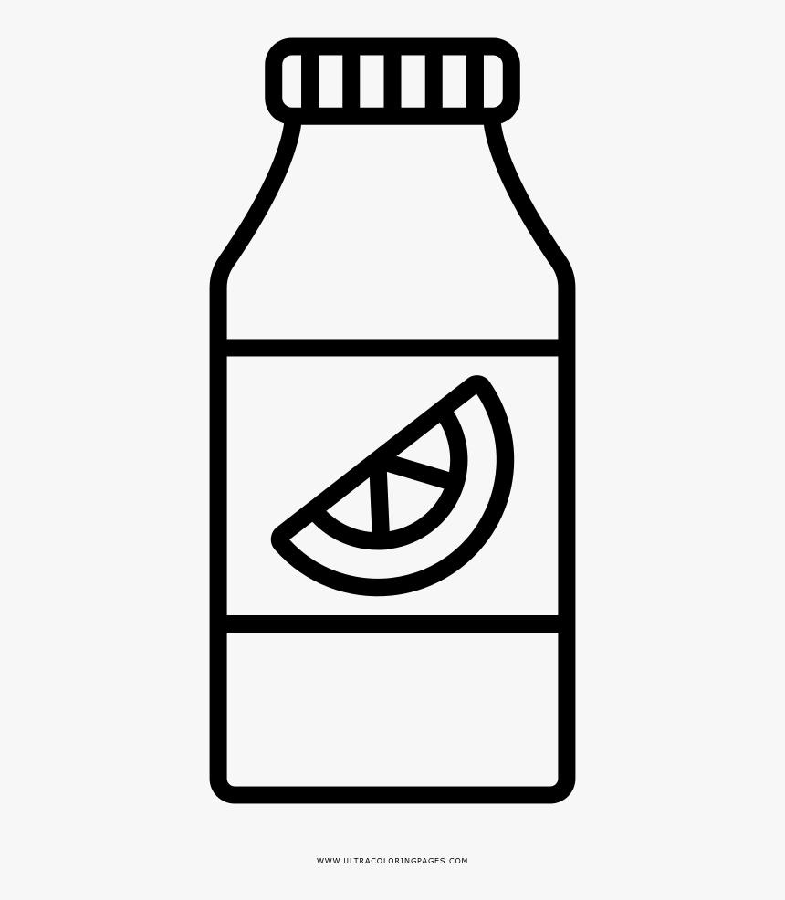 Orange Juice Bottle Coloring Page - Mewarnai Gambar Jus, HD Png Download, Free Download