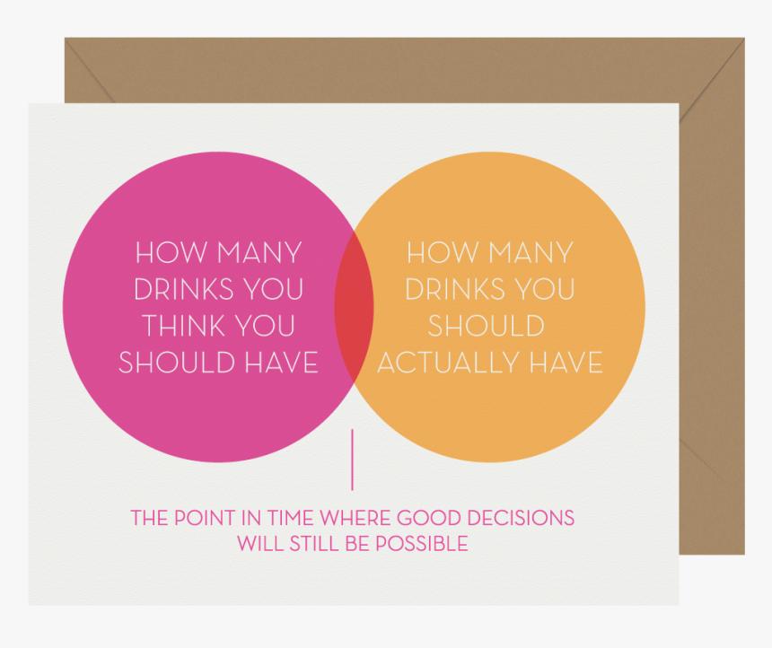 Good Decisions Venn Diagram Letterpress Greeting Card - Greeting Card Venn Diagram, HD Png Download, Free Download