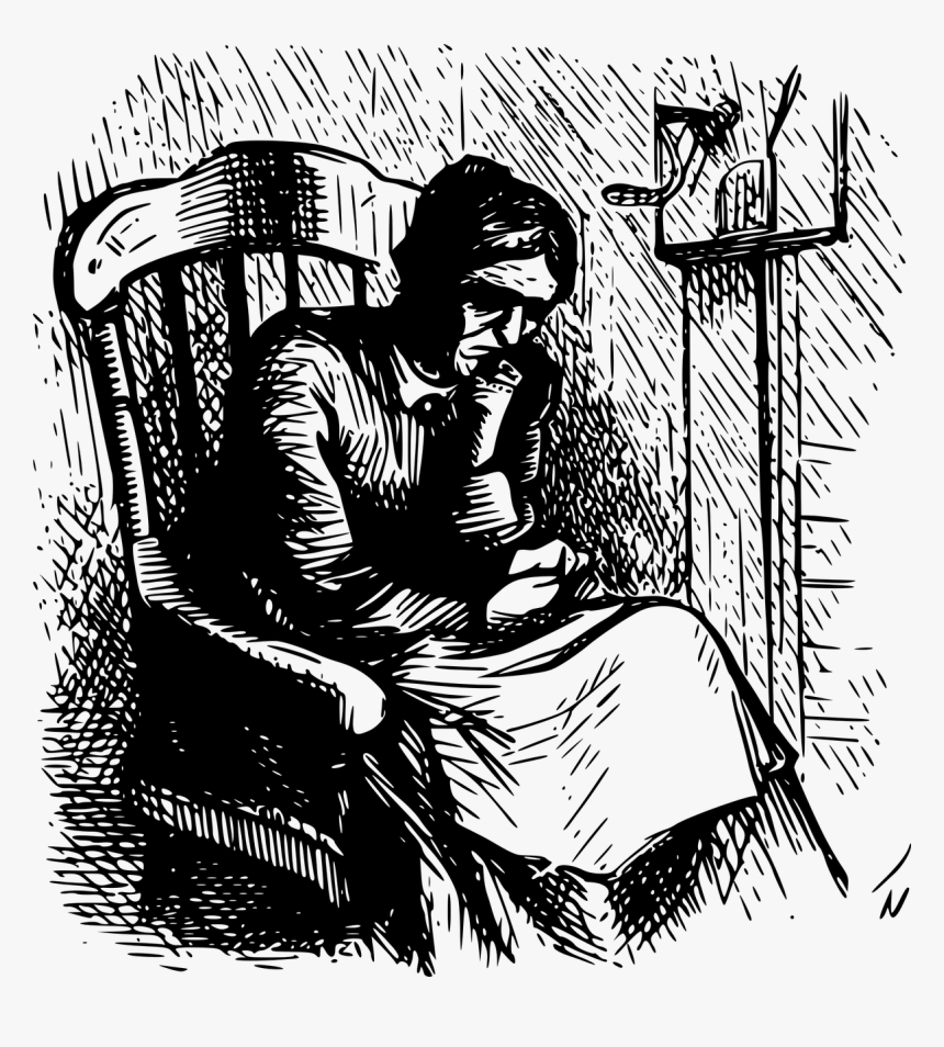 Chaise Bercante Depression Loneliness Free Photo - Old Woman In A Rocking Chair, HD Png Download, Free Download