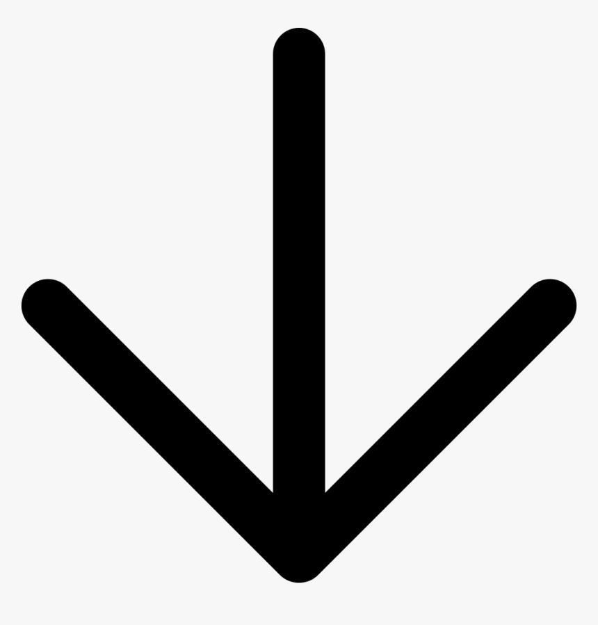 Quickmenu Start - White Arrow Down Png, Transparent Png, Free Download