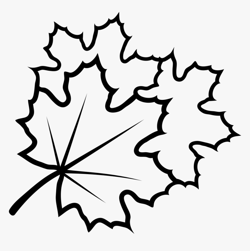 Leaves - Line Art, HD Png Download, Free Download