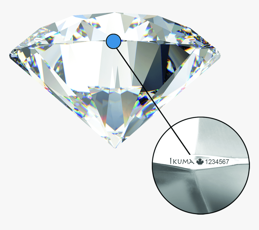 Round Cut Diamond Side View, HD Png Download, Free Download