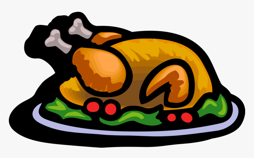 Vector Illustration Of Traditional Thanksgiving And - Thanksgiving Turkey Dinner Clipart, HD Png Download, Free Download
