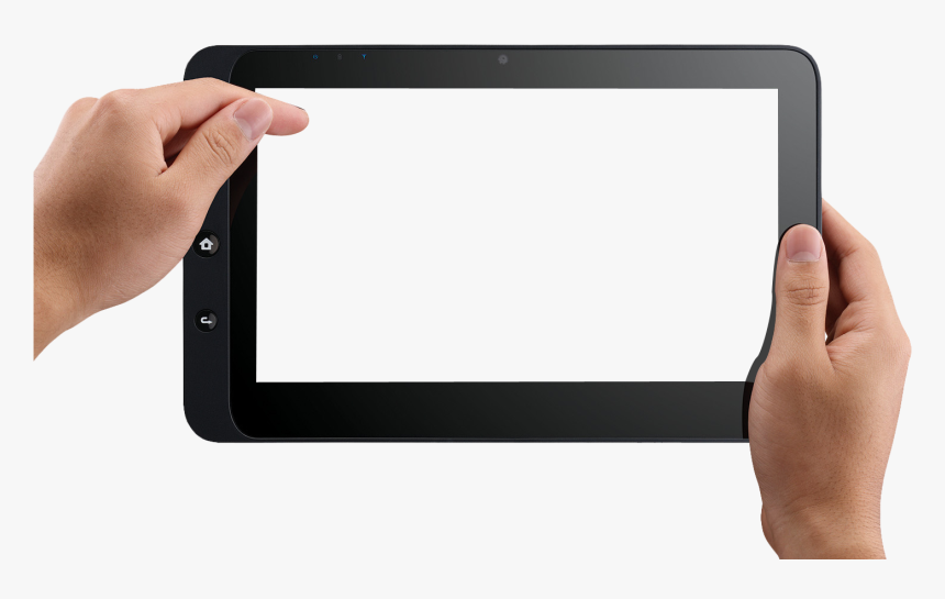 Hand Holding Tablet Png, Transparent Png, Free Download