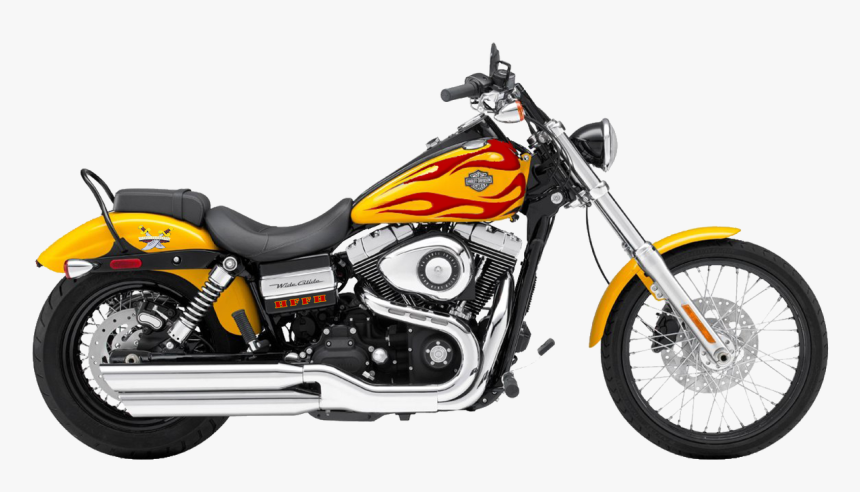 Moto Png Image, Motorcycle Png Picture Download - Harley Davidson Wide Glide Yellow, Transparent Png, Free Download