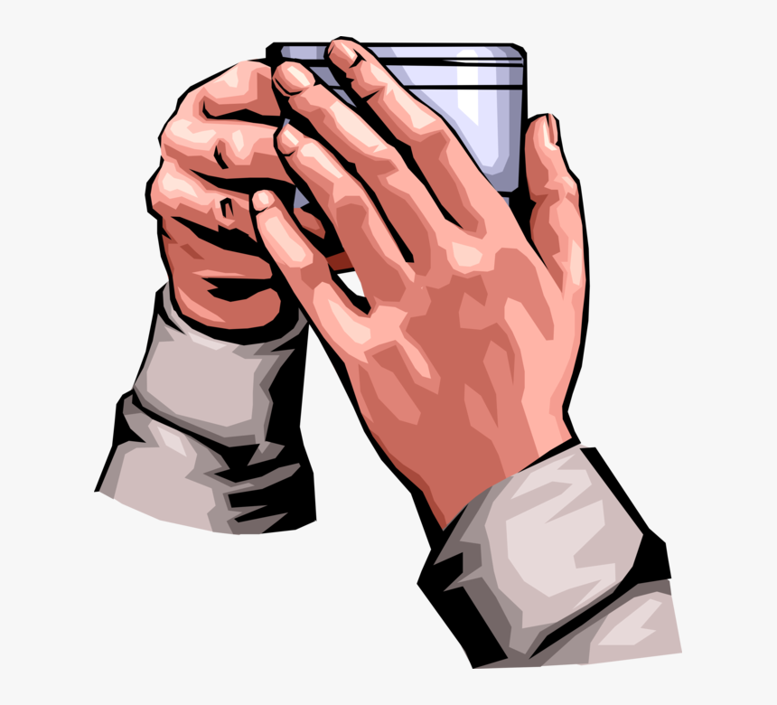 Transparent Hand Hold Png - Hand Holding Coffee Mug, Png Download, Free Download