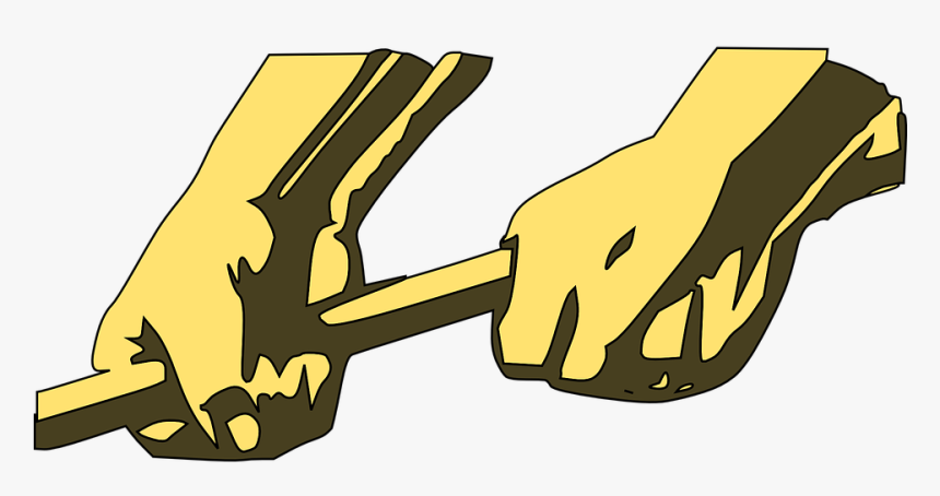 Hands, Holding, Rod, Force, Working, Labor, Employee - Two Hands Holding An Axe, HD Png Download, Free Download
