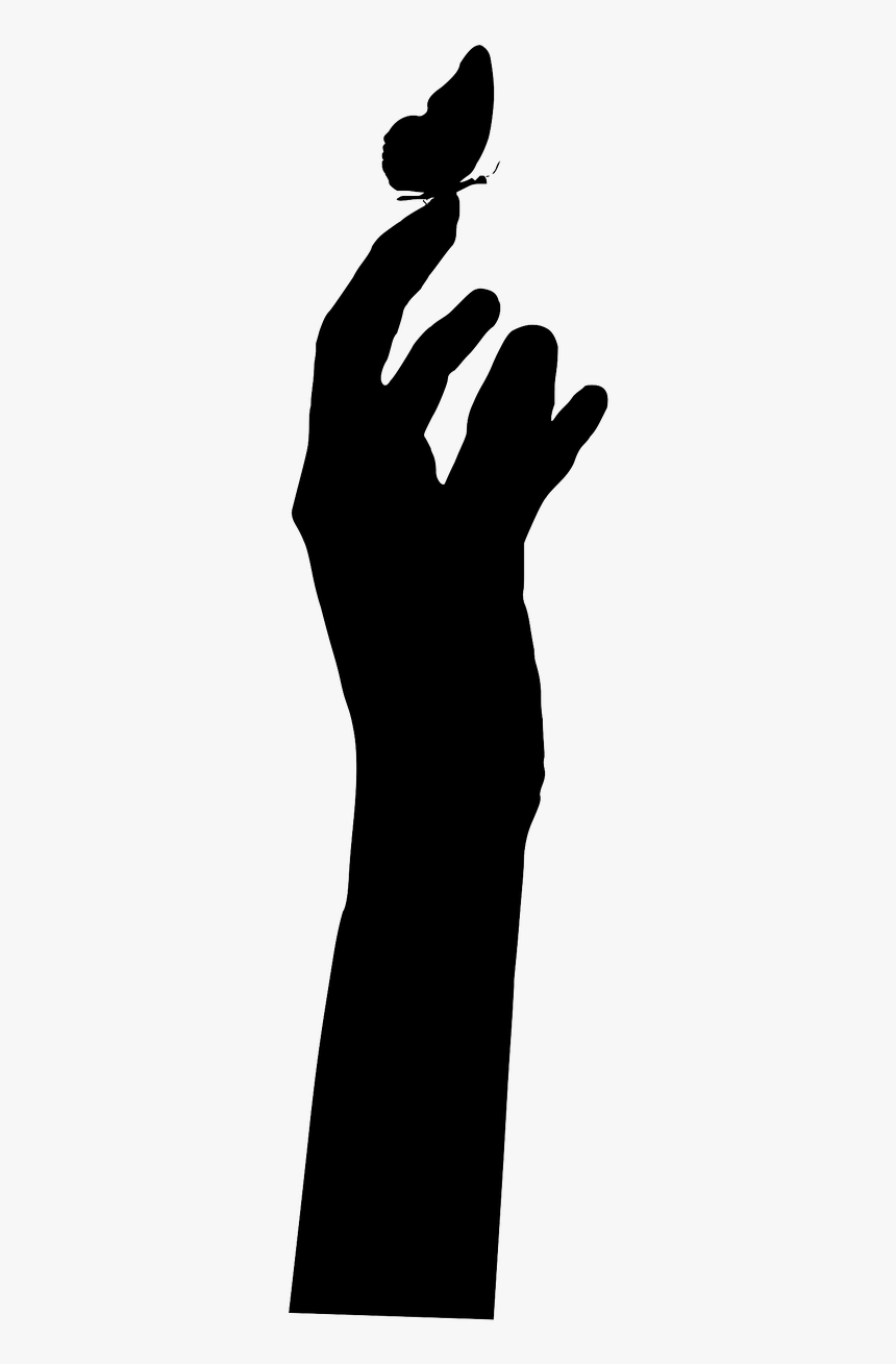 Hand With Butterfly Silhouette, HD Png Download, Free Download
