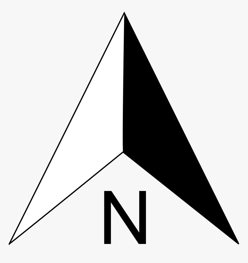 North Compass Arrow Clip Art - North Sign Png Hd, Transparent Png, Free Download