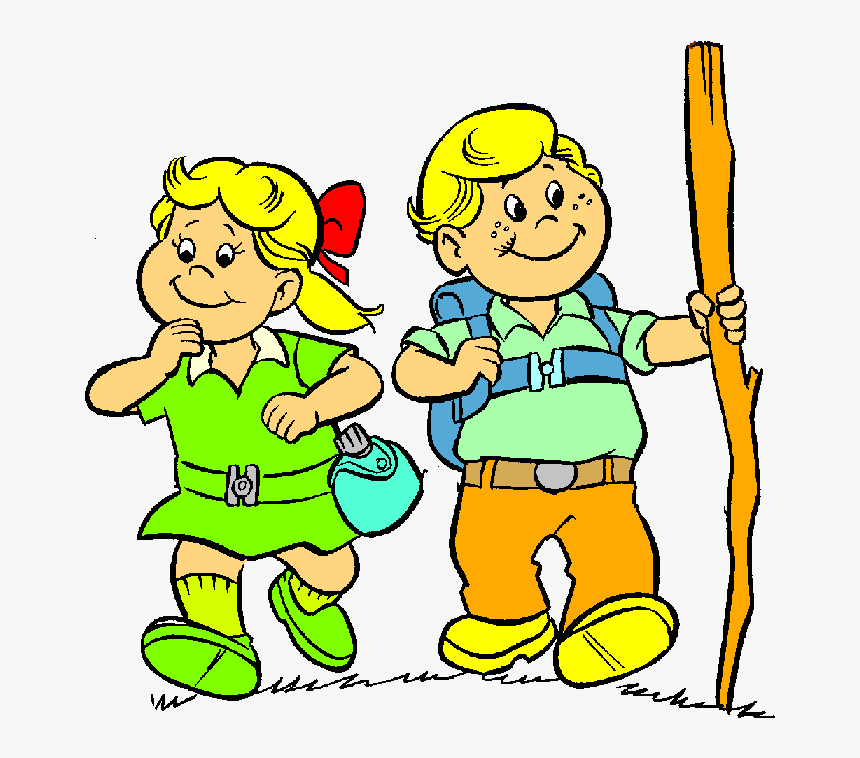 People Hiking Clip Art - Nature Walk For Kids Clipart, HD Png Download -  kindpng