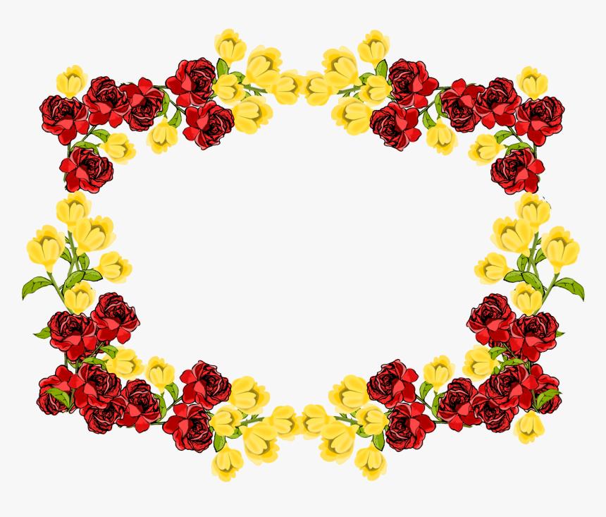 Flowers Border Png Flower Frame Background Transparent Png