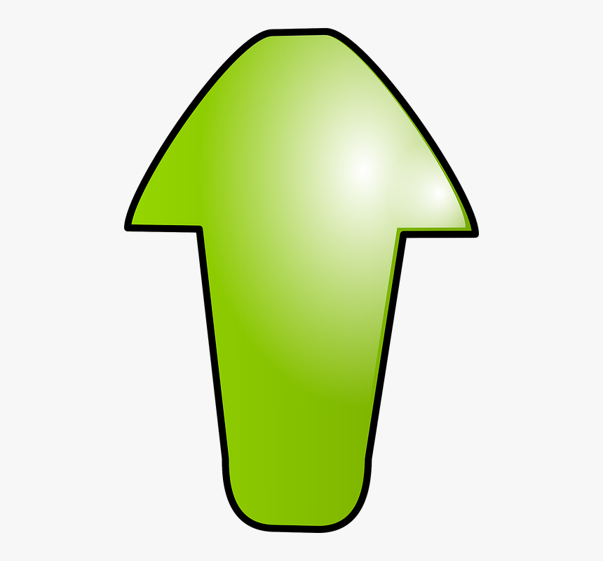 Arrow, Green, Up, North, Sign, Symbol - Arrow Green Cartoon, HD Png Download, Free Download