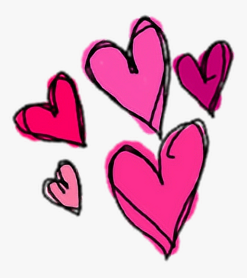 Cute Heart Hearts Pink Sticker Stickers Png Overlay - Cute Stickers Png, Transparent Png, Free Download