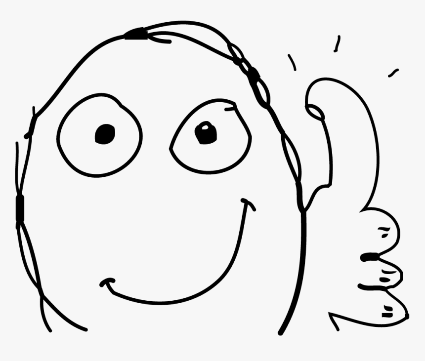 Thumbs Up Meme Drawing, HD Png Download, Free Download