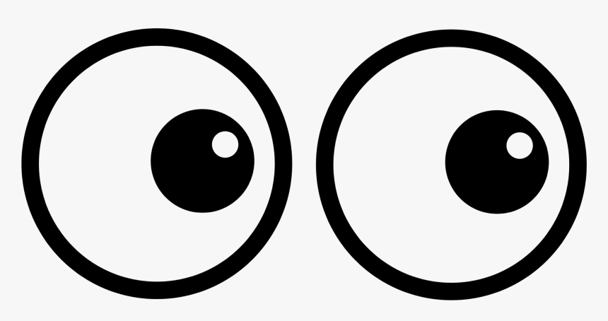 Transparent Eyes Clipart Black And White Big Cartoon Eyes Hd