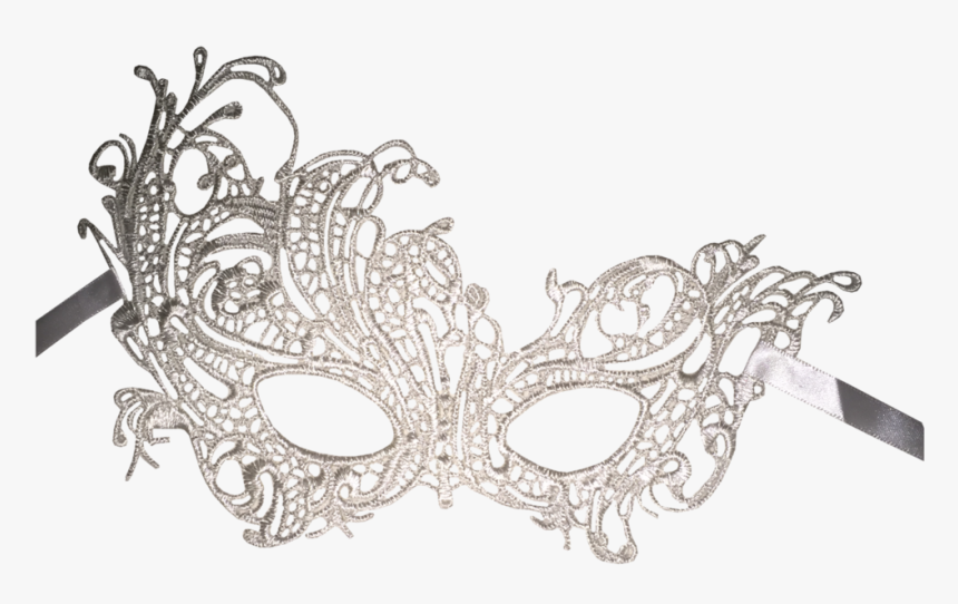 Silver Masquerade Mask Png, Transparent Png, Free Download