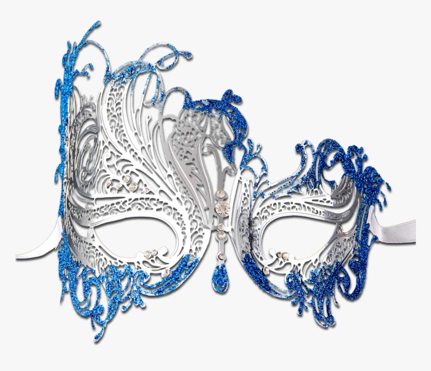 Glitter Series Swan Metal Filigree Laser Cut Venetian - Transparent Masquerade Mask Mask, HD Png Download, Free Download