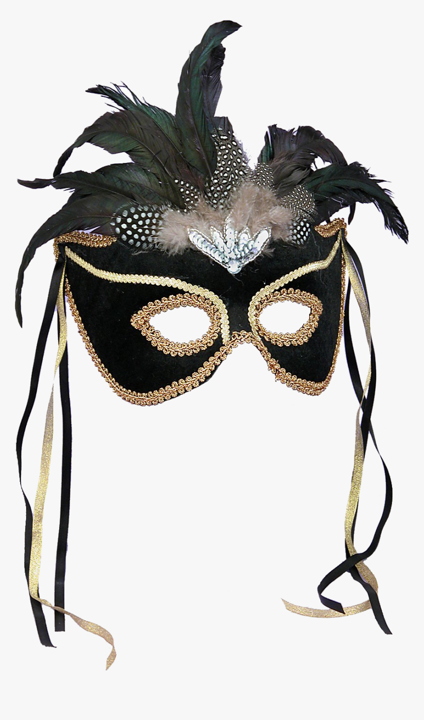 Phantom Ball Masquerade Mask Halloween Costume Feather - Masquerade Ball Gowns With Masks, HD Png Download, Free Download