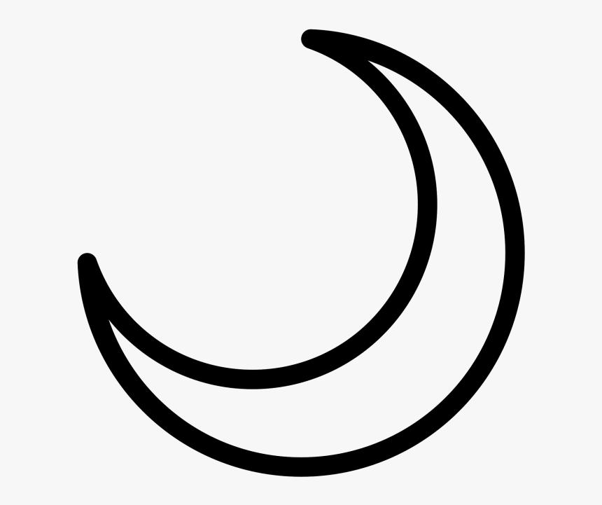 Moon Clipart Outline Desenho De Lua Crescente Hd Png Download