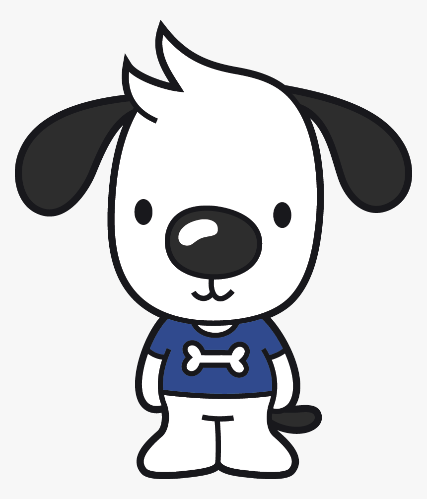 Dogs Vector Cute Dog - Dog Tied Up Cartoon, HD Png Download, Free Download