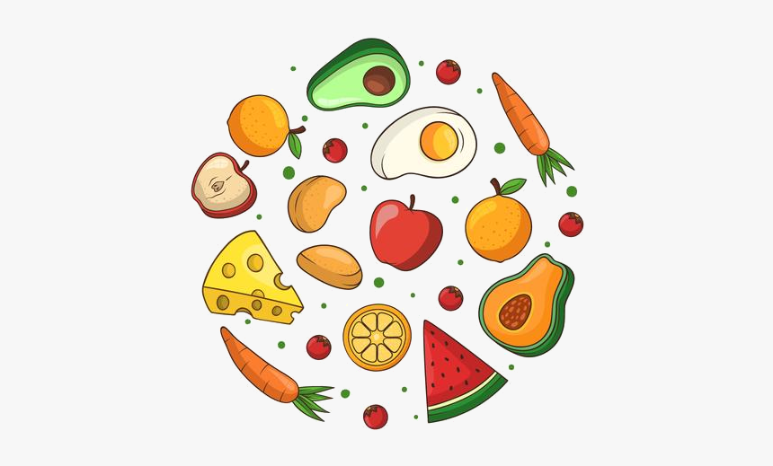 Healthy Food Clipart Free Vector Art Stock Graphics - Healthy Food Vector Png, Transparent Png, Free Download