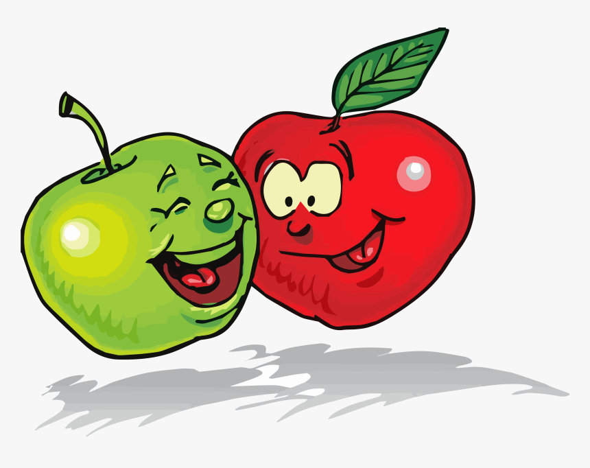Apple Green Red Clipart Png - Healthy Food Clipart, Transparent Png, Free Download