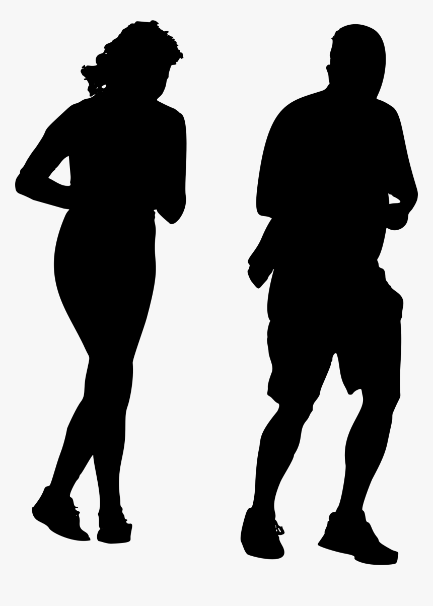 Jogging Silhouette Png, Transparent Png, Free Download