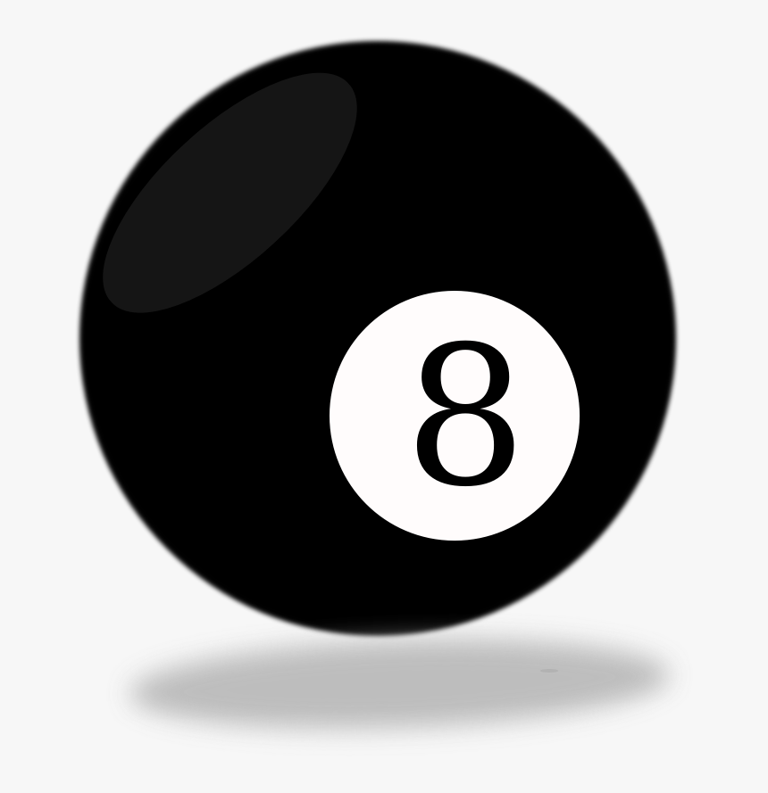 Billiard Ball,indoor Games And Sports,pocket Equipment,nine - 8 Ball Black And White, HD Png Download, Free Download