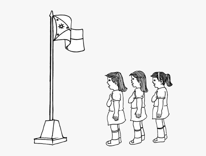 Singing Philippine National Anthem Drawing - Singing National Anthem Drawing, HD Png Download, Free Download