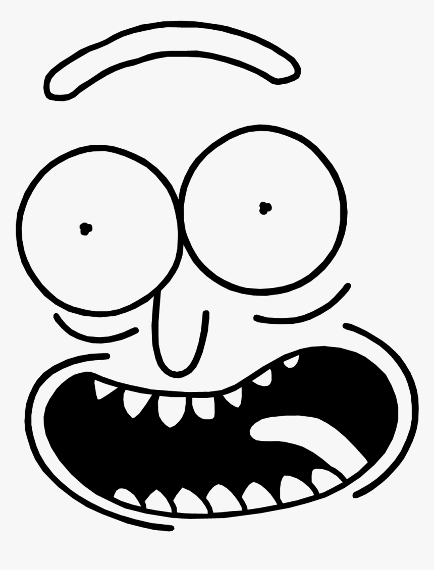 Black And White Rick And Morty, HD Png Download, Free Download