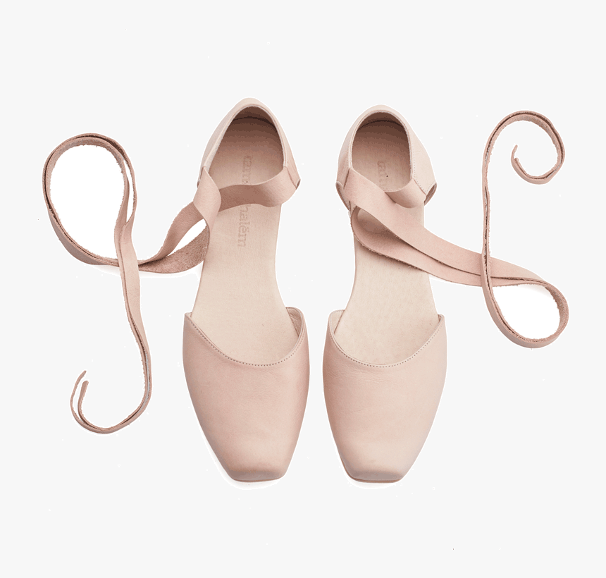 Ana, Blush Pink Leather Ballerina Shoes - Sandal, HD Png Download, Free Download